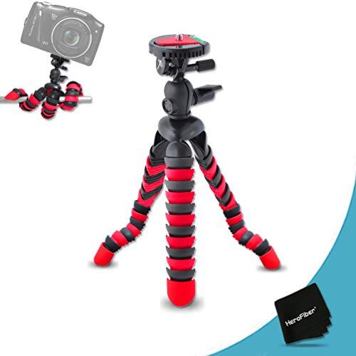 "12"" Inch Flexible Tripod with Quick Release Plate for Canon Powershot SX530, SX610, SX710, SX600 HS, SX700 HS, SX520, SX510 HS, SX500 IS, SX280 HS, SX260 HS, SX170 IS, SD1300 IS, SD1200 IS, SD980, SD770, SD1300, D30, D20, D10, IXUS 85 IS, IXUS 95 IS, IXUS 200 IS, G1 X,G15, G16, SX50 HS, SX40 HS Digital Cameras"