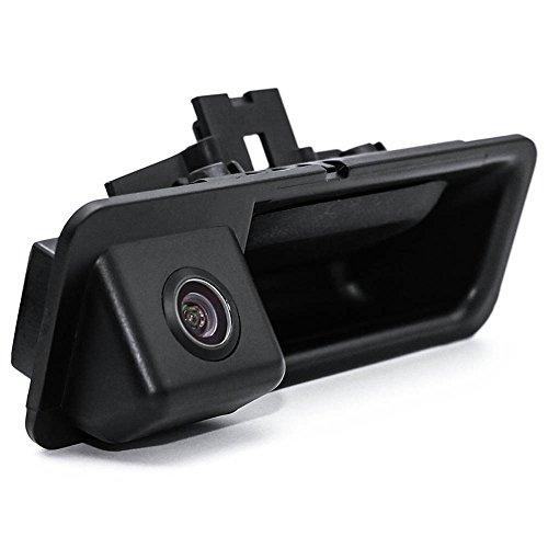 Kalakass Wasserdicht 170 ° umkehrbare Fahrzeug-spezifische Griffleiste Kamera integriert in Koffergriff Rückansicht Rückfahrkamera für 5er X1 X3 X5 X6 F10 F11 F25 F30 535Li 530i