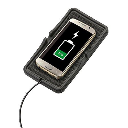 Cartrend 90128 Wireless-Charger-kabelloses Laden für alle Qi-fähige Geräte, wie Samsung Galaxy S6, Microsoft Lumia (830, 920, 928, 930, 950 / XL/Dual-SIM, 1520), Google Nexus ab 4, LG G3