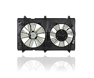 Dual Radiator and Condenser Fan Assembly - Cooling Direct For/Fit HO3115121 03-07 Honda Accord Sedan Coupe L4 USA BUILT DENSO DESIGN