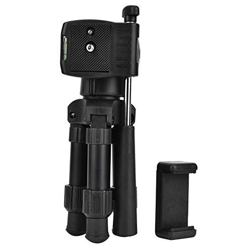 Qkiss Mini-statief voor mobiele camera met draagvermogen van 3 kg, opvouwbaar statief van aluminiumlegering met kogelkopgreep