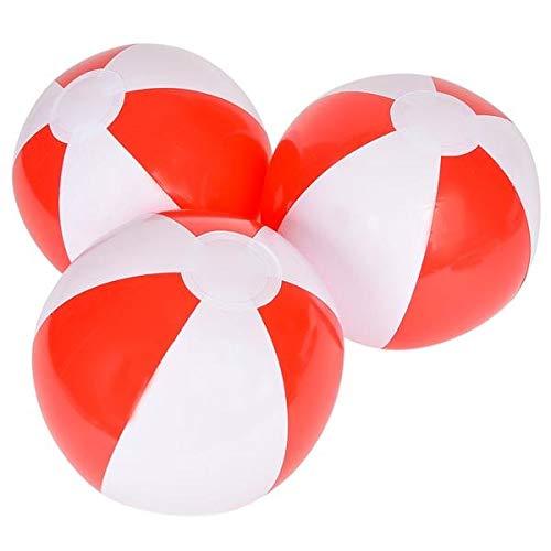Rhode Island Novelty 12' Red and White Beach Ball
