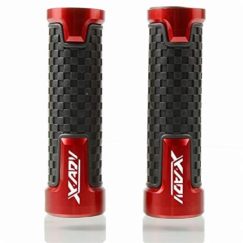 YKSM Scooter Antideslizante, Accesorios De Aluminio para Motocicleta, Empuñaduras De Manillar De 7/8'22mm para hon&da XADV X-ADV 750 2017-2018 Agarraderas (Color : Red)