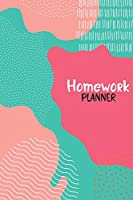 Homework Planner: Assignment Planner for Student - Daily Tracker, Schedule Organizer, Reminder and Study Planner for School and College - Perfect Gift - v4