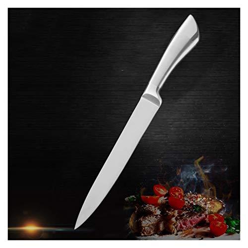 DDoyci 7CR17 Cuchillo de Cocina de Acero Inoxidable Cuchilla Afilada Chef Cuchillos Conjunto Sushi Sashimi Vegetal Pan Fruit Cuchillo (Color : 8 Inch Slicing)