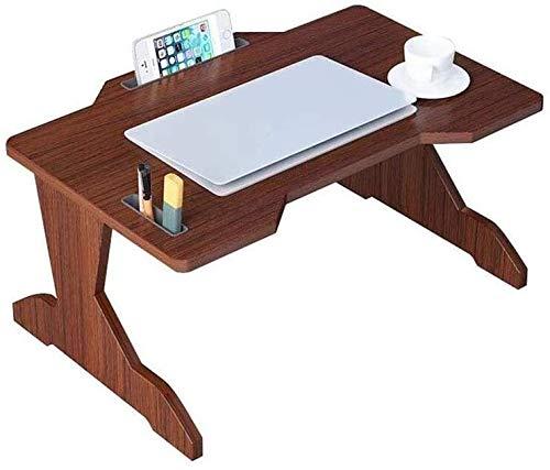 Escritorio de la computadora de la Madera Maciza, Mesa de la Mesa de la Mesa de la Cama de la Cama Dormitorio Plegable del Escritorio de la computadora Multiuso