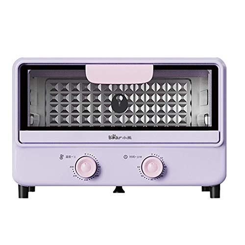 YLLYLL Household Oven Small Multifunctional Automatic Bread Baking Machine 11L Capacity Double Knob Temperature Control Timing Pizza Cake Oven