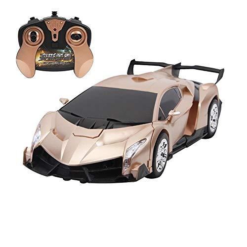 OUUED Gesture Sensing Vervorming Car RC Transformatie Robot Remote Control Action Figure One Touch Transforming Robots Modellen Rotating LED Light auto's speelgoed for Boy Kids Kinderen Gift Yellow