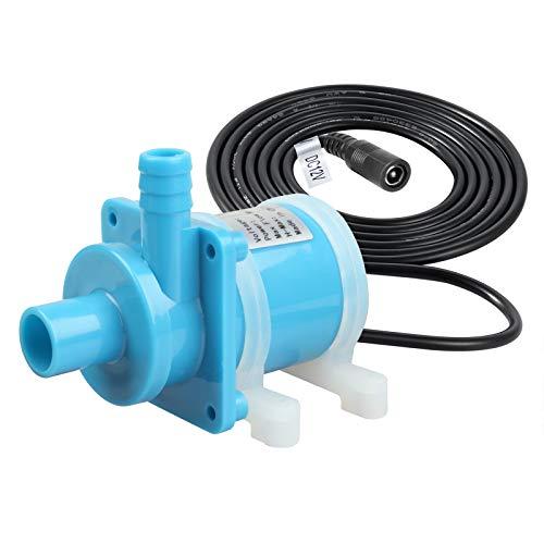 TSSS Mini Brushless DC 12V Wasserpumpe 18W 800L/H Umwälzpumpe Tauchpumpe Wasserspielpumpe Pumpe für kleines Aquarium Brunnen Springbrunnen Aquariumpumpe Förderpumpe - Ohne Selbstansaugfunktion