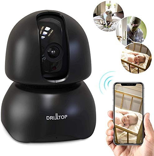 All-New 2020 Wireless IP Surveillance Camera Night Vision - Baby Monitor or Security Camera - 1080p, Activity Detection - 2 Way Audio - Remote Monitor with iOS, Android App - Cloud Servicee (Black) Cameras Dome