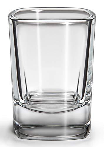 SIXBY - Vasos de chupito 4 cl, diseño cuadrado (12 unidades)