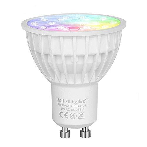 mi-light ® Leuchtmittel Lampe GU10RBG + CCT LED Spotlight 4W 2.4G RF Multicolor Dimmbar fut103