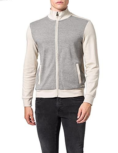 Pierre Cardin Herren Sweatjacke Sweatshirt, Weiß, L