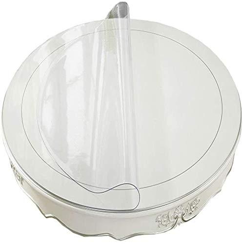 LYQCZ Mantel Transparente De PVC, Limpiable Aceite-Prueba Claro Grueso Vidrio Blando Manteles FáCil De Limpiar Mantel PVC Redondo Protector Mesa Mantel PVC(0.5mm180cm/70.87in)