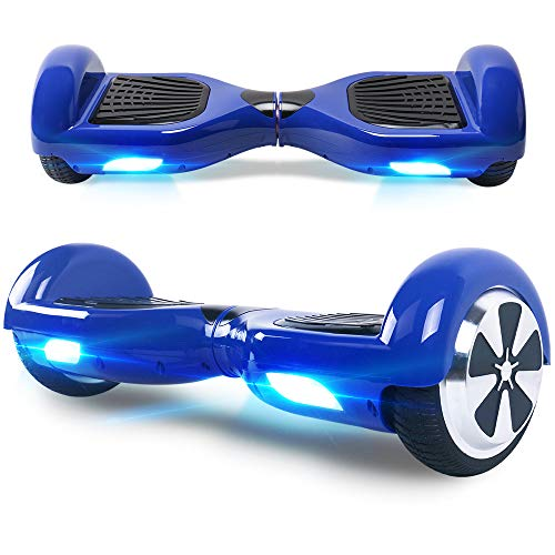 Windgoo Hoverboard, 6.5 Zoll Self Balance Scooter mit Starker Dual Motor - LED Lights Elektro Scooter, Self Balancing Scooter für Kinder (Blau)
