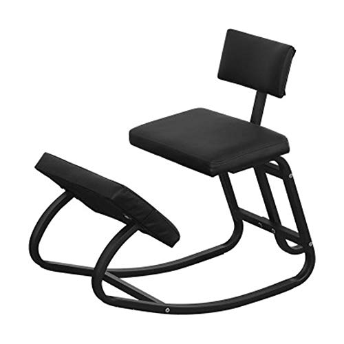 Sleekform Ergonomic Kneeling Chair, Thick Comfortable Cushions,with Back Support Rocking Chair Gaming Chair(b)