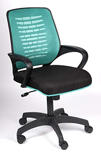 Seat Chacha® Ace Mid Back Office/Study/Home/Computer Chair with 3 Color Options and Breathable Mesh (Green) … …