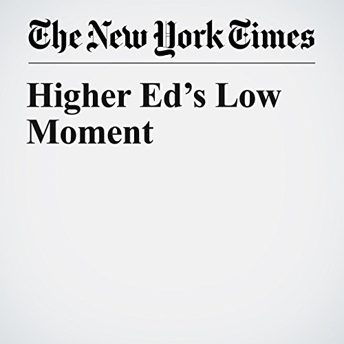 Higher Ed's Low Moment copertina