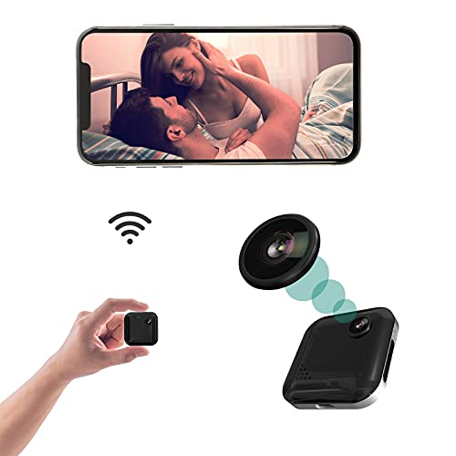Mini Spy Camera WiFi Hidden Camera 1080P Small Spy Cam Portable Security Cameras with Night Vision Motion Detection Alerts, Wireless Nanny Cam Audio & Video Recording with Live Feed Cell Phone APP