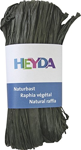 Heyda 204887789 Bast Naturbast (0 m x 0 mm, VE = 5/50 Bdl.) schwarz