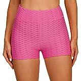 Zestion Pantalones Cortos de Jacquard teñidos anudados Informales a la Moda para Mujer Pantalones Cortos Deportivos de Cintura Alta con Levantamiento de Cadera para Correr y Correr Small