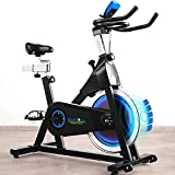 Magnetic Resistance Exercise Bike Stationary Bike, Indoor Cycling Bike Quiet with 40 LBS Flywheel, Extra Wide Comfortable Saddle, Fully Adjustable Seat and Handlebar for Home Workout Fitness Gym, Maximum Capacity 300 LBS