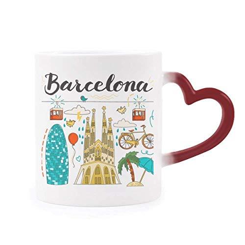DIYthinker Barcelona, Sagrada Familia Española Morphing de Calor de la Taza Copa...