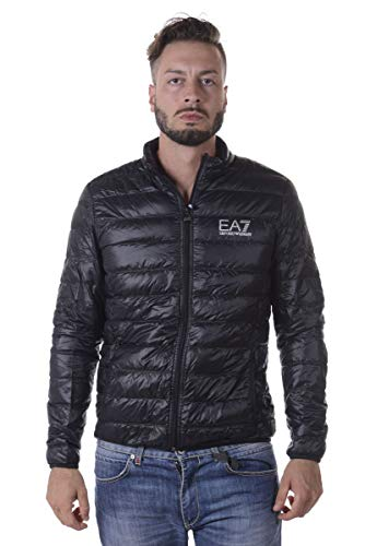 EA7 Emporio Armani Herren Lightweight Daunenjacke, Schwarz, Gr.M
