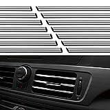 20 Piezas Aire Acondicionado del Coche Salida de Aire Tira Decorativa Tira de Decoración de Ajuste de Salida de Ventilación de Aire Acondicionado de Coche Ajuste Interior del Coche Salida