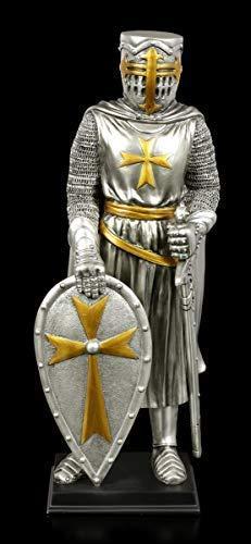 Unbekannt Kreuzritter Figur mit Schwert und Schild   Dekofigur, handbemalt