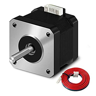 SIMAX3D Nema 17 stepper motor 42x38mm 1.5A 2 phase 4 wires 1.8 degrees with 39.3 inch cable for Creality CR-10 10S Ender 3 3D printer/CNC extruder and Y-axis