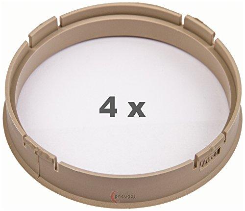 4 x pneugo! Bagues de centrage pour jantes alu 73.1 mm - 67.1 mm