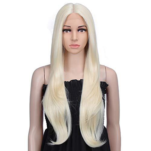 Style Icon Perruques avec dentelle frontale 76,2 cm Perruque à cheveux synthétiques longs et ondulés Aspect naturel Pour les femmes