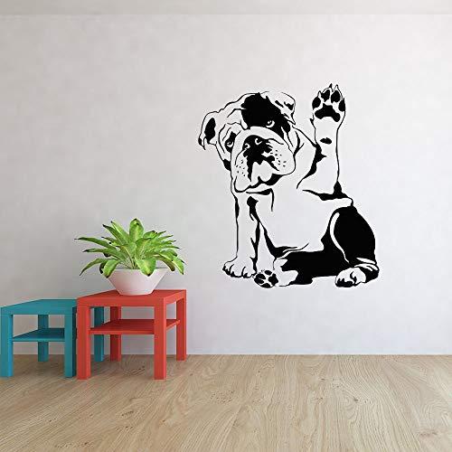 Opprxg Perro inglés Perro Mascota salón de peluquería Vinilo Pared Pegatina Mural Estudio calcomanía decoración del hogar Sala de Estar póster artístico 57X63cm