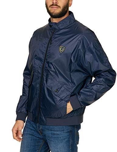 Fred Perry Men's Harrington Jacket Blue in Size Medium