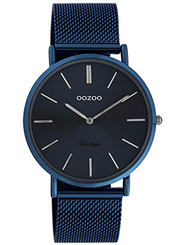 Oozoo Vintage Damenuhr mit Milanaiseband Dark Blue 40 MM Dunkelblau C20003
