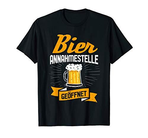 Bier Annahmestelle Lustiges Retro Geschenke Für Biertrinker T-Shirt