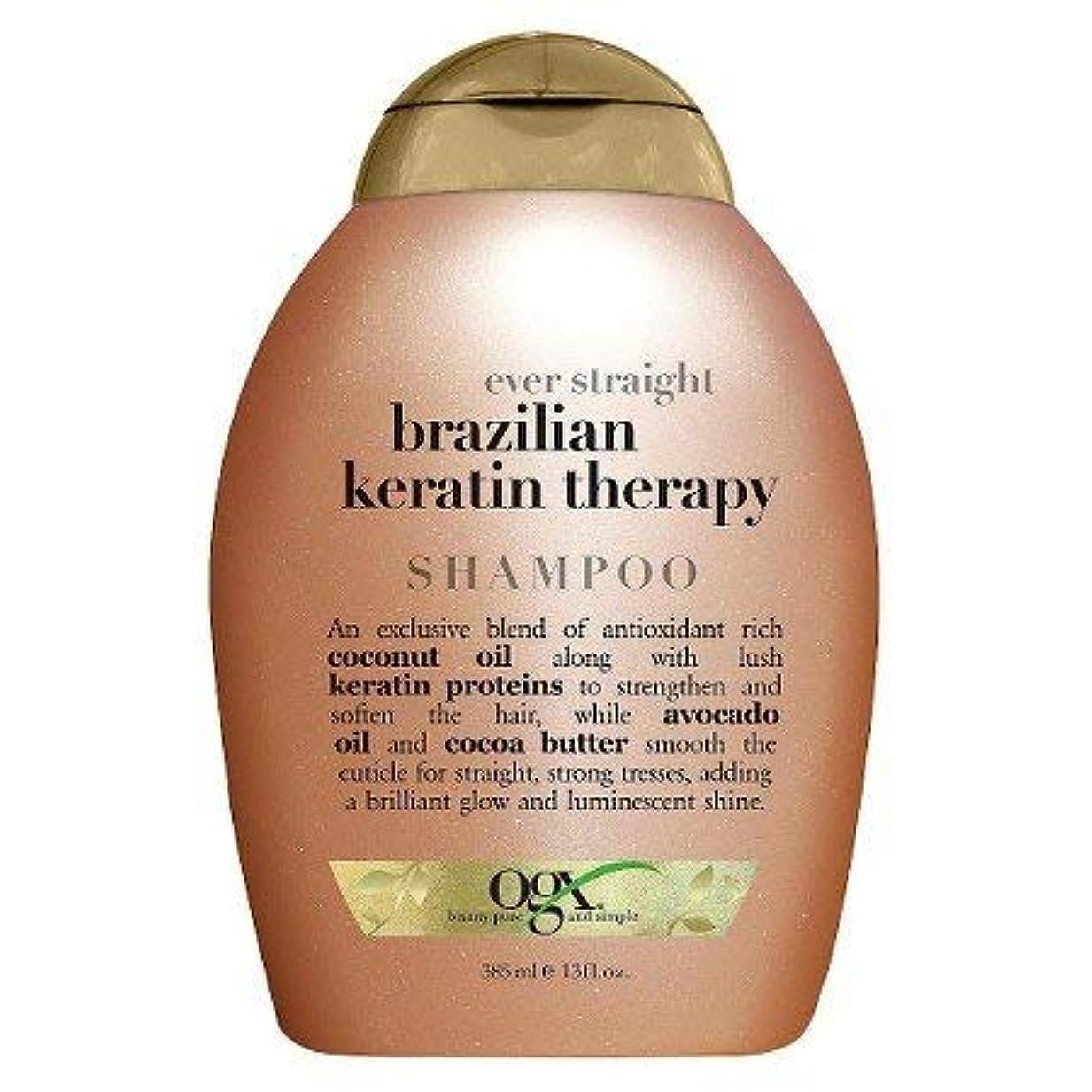 雑品購入忘れられないOGX Ever Straight Sulfate & Sodium Free Brazilian Keratin Therapy Shampoo 360ml エヴァーストレートブラジルケラチンセラピーシャンプーシャンプー [並行輸入品]