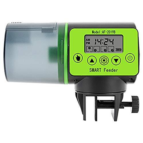Homieco Alimentatore Automatico Acquario, Erogatore di Cibo Automatico Programmabile per Pesci con capacità di 200 ml, Feeder Dispenser di Pesce con Display LCD, Alimentatori Automatici per Vacanze