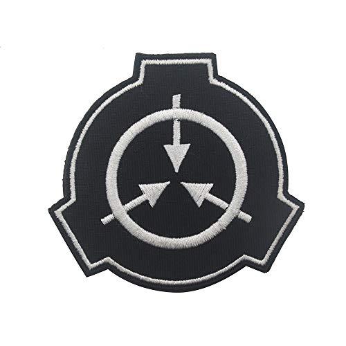SCP Foundation Patch Special Containment Proedures Foundation Logo bestickt Taktische Morale Badge Armband Emblem Applique Military Caps Rucksack Mantel (schwarz)