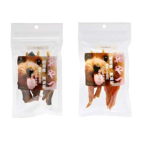 ジンジン JINJIN 小袋おやつ ささみ&まぐろ巻きガム 2種2袋 国産 犬 おやつ 無添加