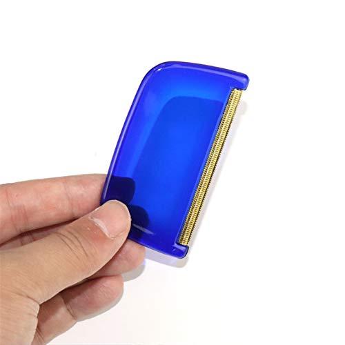 CSFEN Cepillo quitapelusas portátil removedor de pelo de mascotas, rodillo manual de pelusa para sofá, ropa, cepillo de limpieza de pelusas, tela de afeitadora (color: azul)