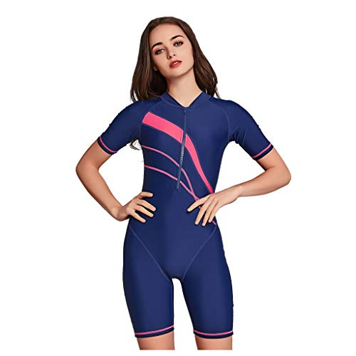 FORUU Sporty One Piece Swimsuit for Women New 2020 Summer Sale Short Sleeve Sun Protection Plus Size Sport Swimwear Best Athletic Swimsuit Active Swimwear Active Bathing Suits Best Gift