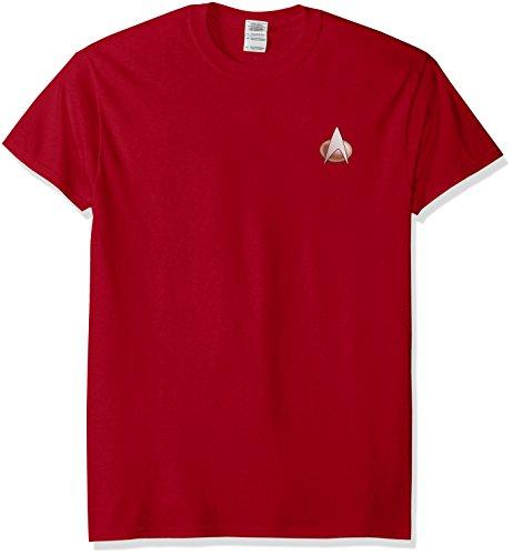 Star Trek - T-Shirt - Homme - Rouge - Cardinal - Small