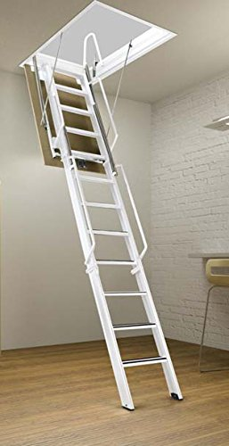 Rainbow F3075-14 - 30'L x 75'W F-Series Tall Attic Ladder/Stair 13'3'H - 14'4'H - White