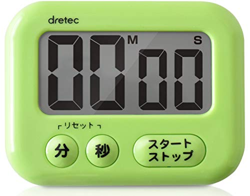 dretec(ドリテック) 見やすい大画面タイマー 最大セット時間99分59秒 簡単操作 シャボン ホワイト T-541GN
