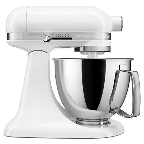 KitchenAid KSM3316XWH Artisan Mini Stand Mixers, 3.5 quart, White