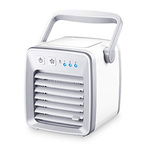 IN THE DISTANCE USB Air Cooler Fan Evapolar USB-Ventilator Tragbarer Tischventilator Mini-Klimagerät Artic Air Cool Beruhigender Wind Zuhause/Büro (Color : White)