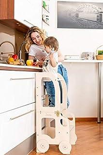 comprar comparacion Torre de Aprendizaje, Escritorio y Taburete Montessori (Sin Pintar)