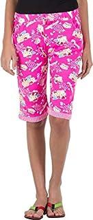 CAMEY Women Cotton Capri (Pink, Free Size)